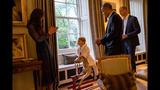 Photos: Prince George meets President Obama