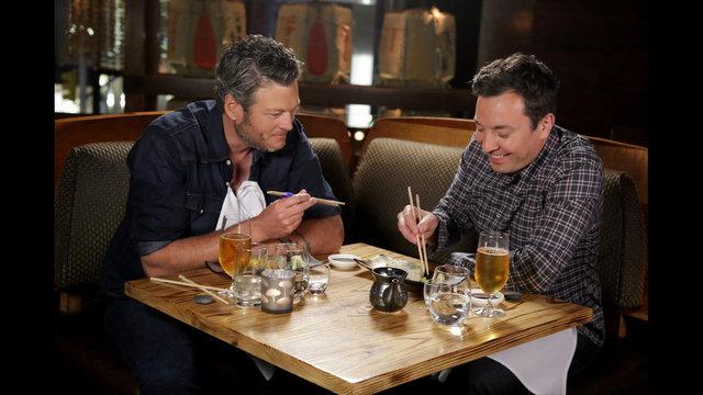 Watch Jimmy Fallon Makes Blake Shelton Try Raw Sushi