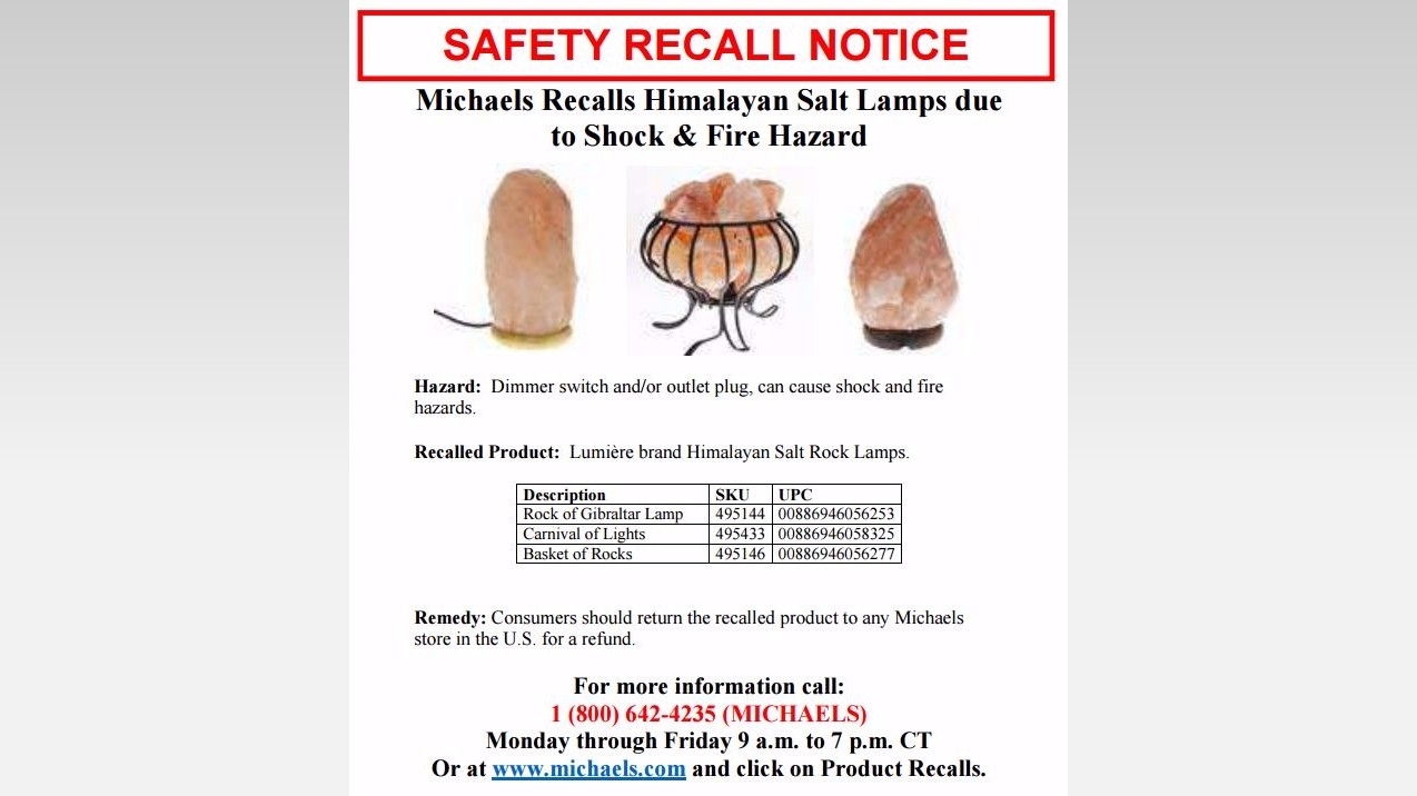 ksdk.com RECALL ALERT: Thousands of salt lamps are shock, fire hazard